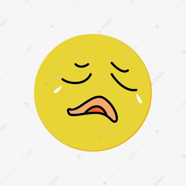 卡通哭脸人物素材图片免费下载 千库网