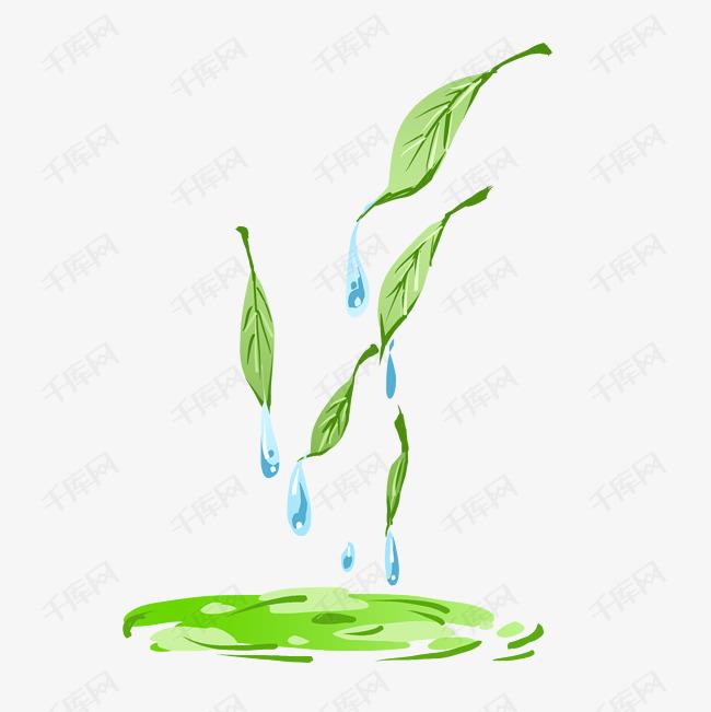 卡通绿茶茶水插画素材图片免费下载 千库网