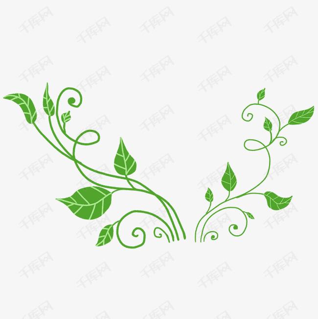 卡通绿色植物藤蔓素材图片免费下载 千库网