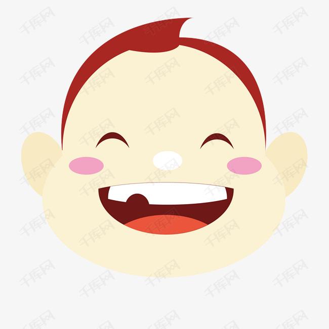 婴儿宝宝笑脸插画素材图片免费下载 千库网