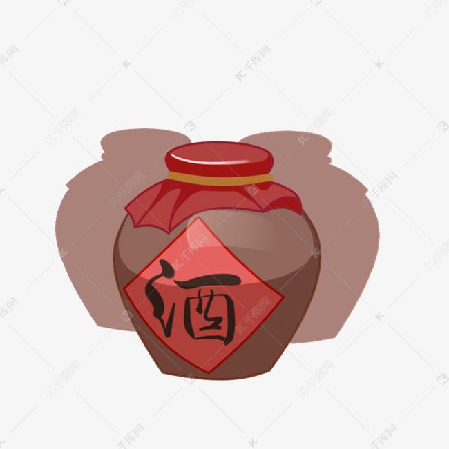 清明节扫墓手绘酒坛素材图片免费下载 千库网