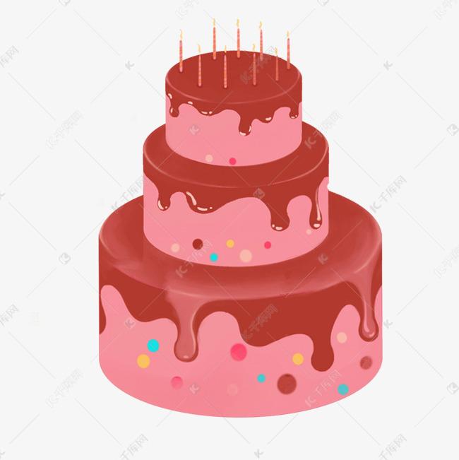 三层生日蛋糕图片