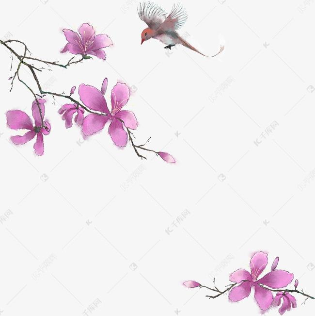 中国风花鸟古风边框素材图片免费下载 千库网
