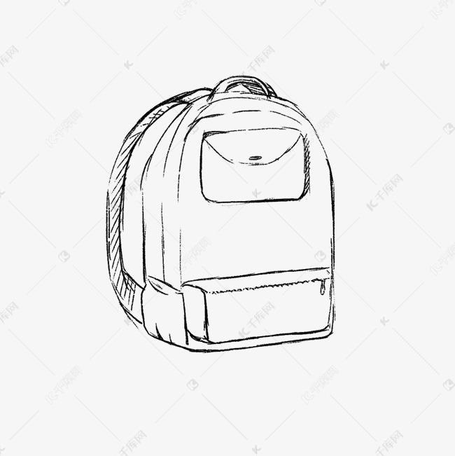 双肩背包简笔画素描素材图片免费下载 千库网