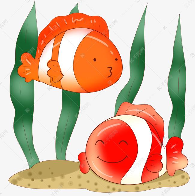 绿色水草小丑鱼素材图片免费下载 千库网