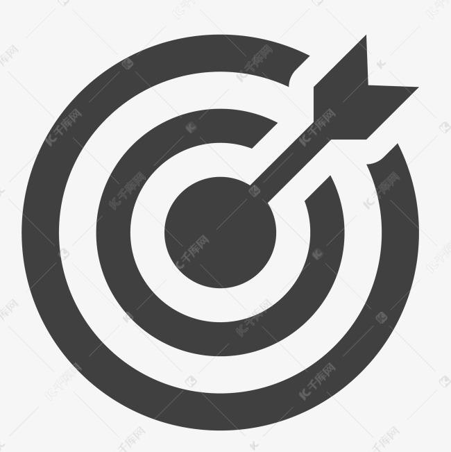 圆形的射箭图标