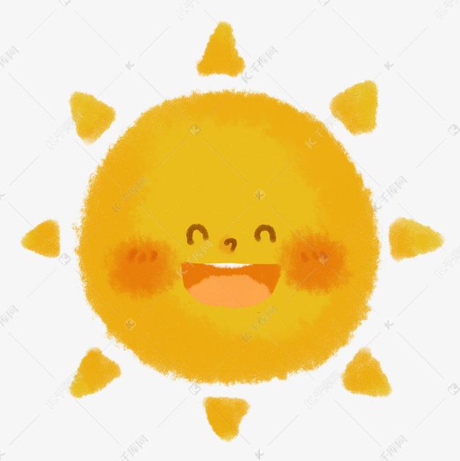 61儿童节蜡笔画儿童节装饰笑脸的太阳免抠png素材图片免费下载 千库网