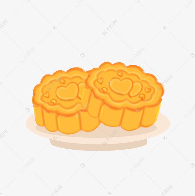 中秋节月饼免抠手绘卡通元素