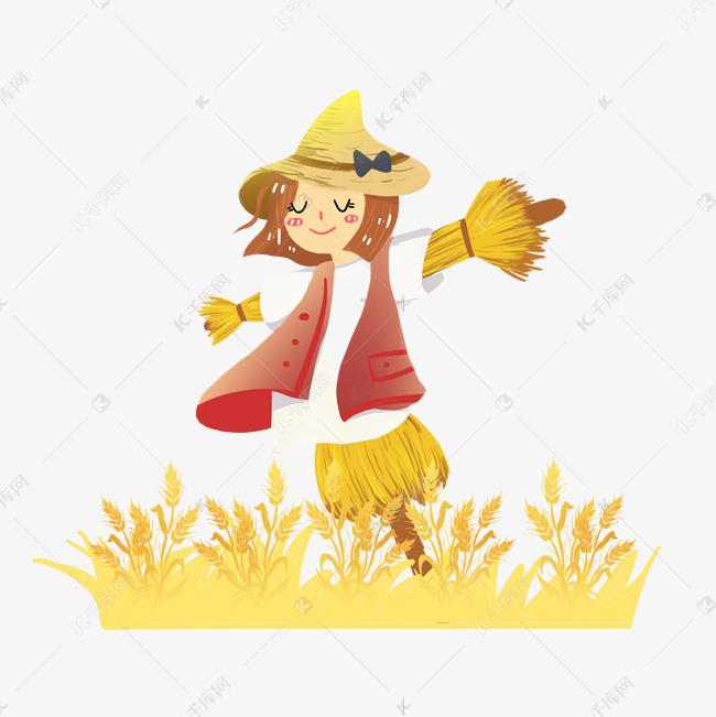 芒种麦穗稻草人素材图片免费下载 千库网