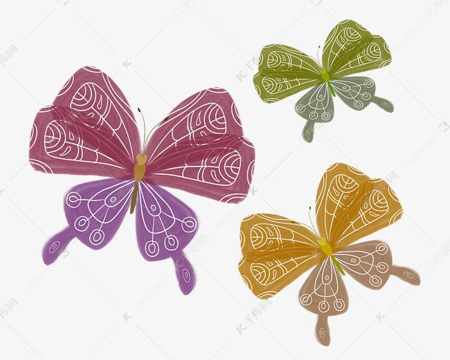 水彩手绘风格蝴蝶