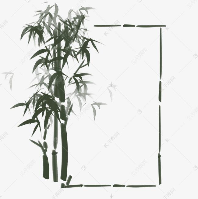 水墨古风竹林边框素材图片免费下载 千库网
