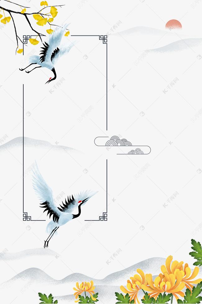 重阳节古风装饰边框素材图片免费下载 千库网