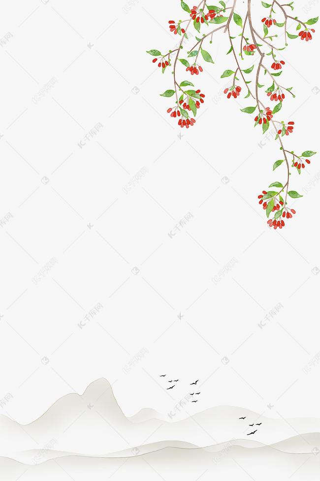 重阳茱萸古风边框素材图片免费下载 千库网