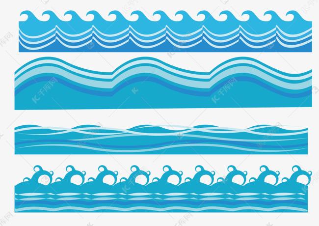 蓝色海水素材图片免费下载 千库网