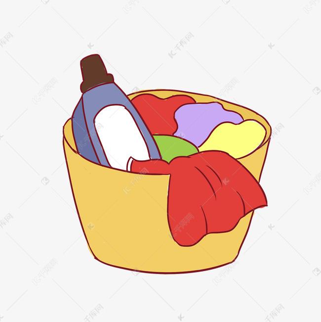 洗衣液手绘卡通素材图片免费下载 千库网
