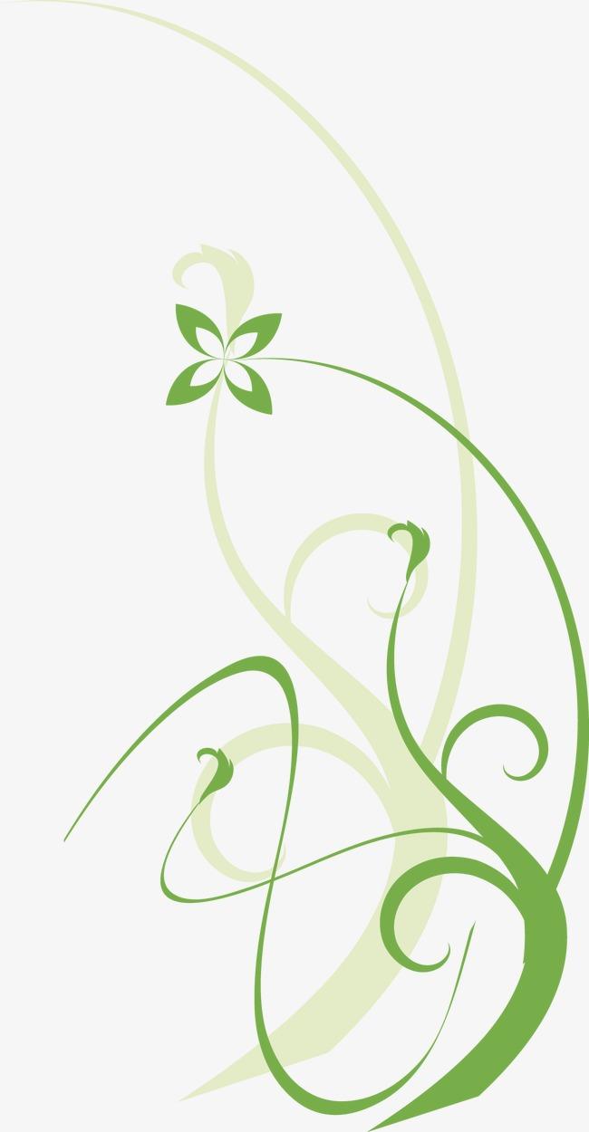 绿色花纹边框花边