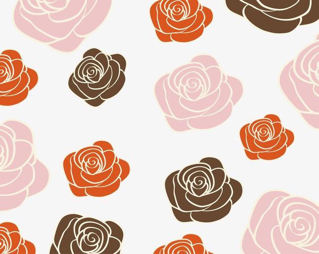 设计元素 背景素材 其他 > 卡通玫瑰花底纹  [版权图片] 找相似下一张