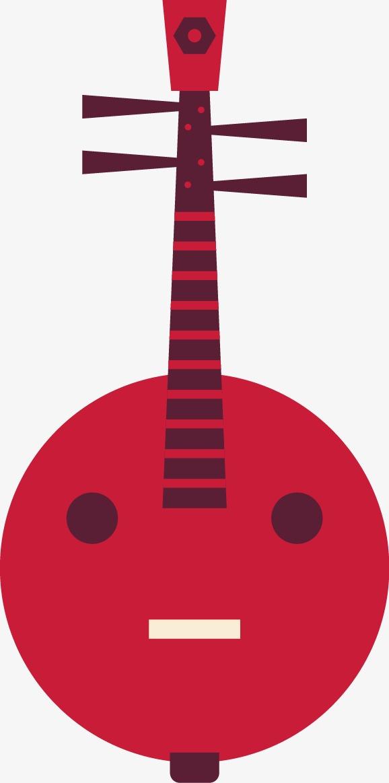 卡通扁平中国风乐器琵琶