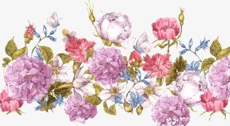 卡通手绘牡丹花纹底纹