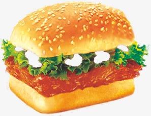 新奥尔良板烧汉堡