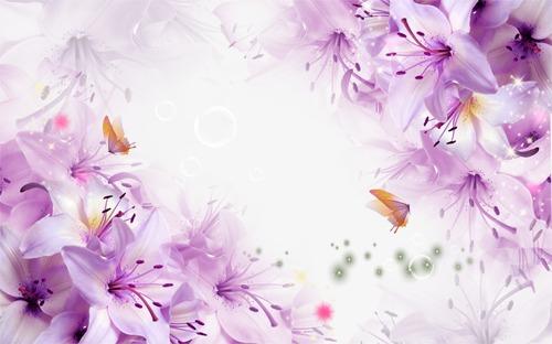 花卉电视背景墙