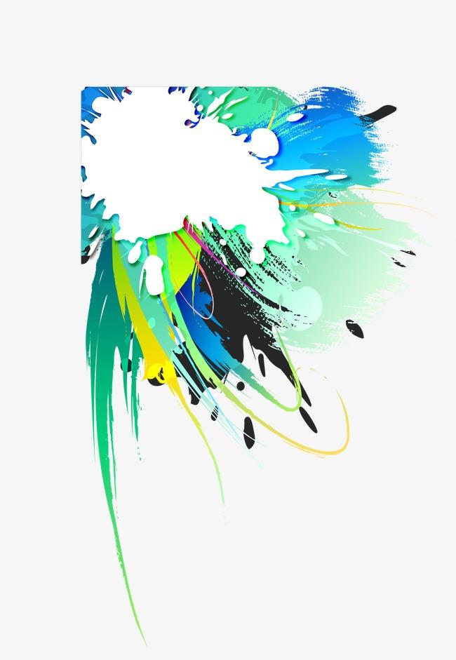 抽象炫彩泼墨主题