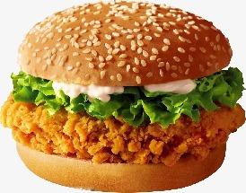 香脆鸡腿汉堡