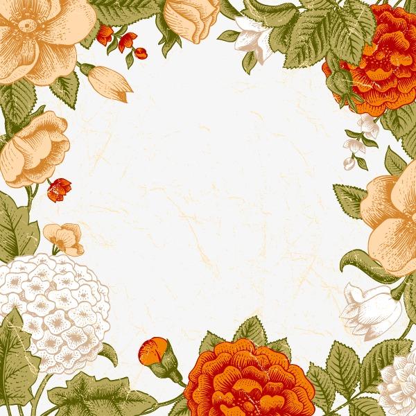花纹底纹专辑 花卉