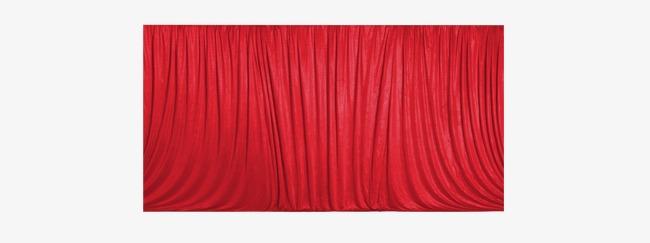 红色喜庆节日窗帘帷幕背景