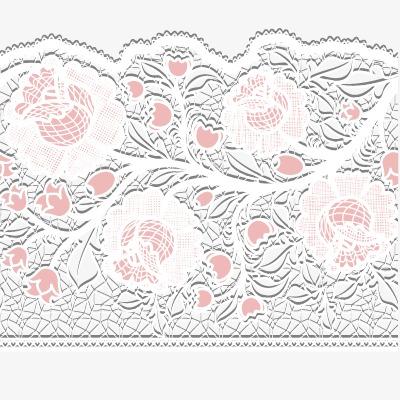 粉色蕾丝花纹花边背景