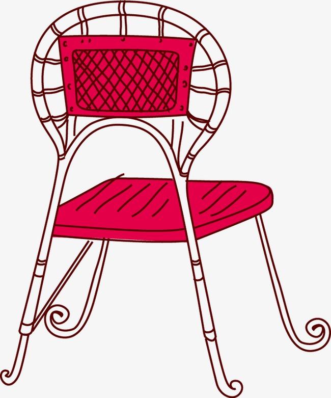 卡通手绘椅子凳子png素材-90设计图片