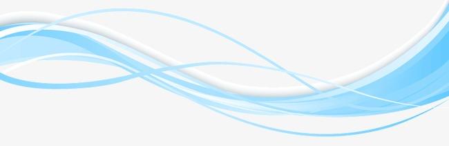 彩色波浪线设计矢量图