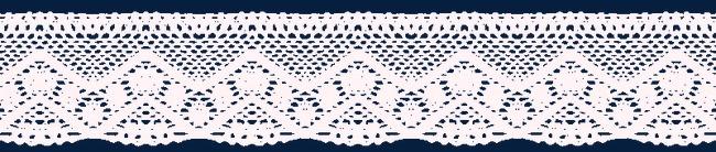 白色蕾丝花纹边条矢量图