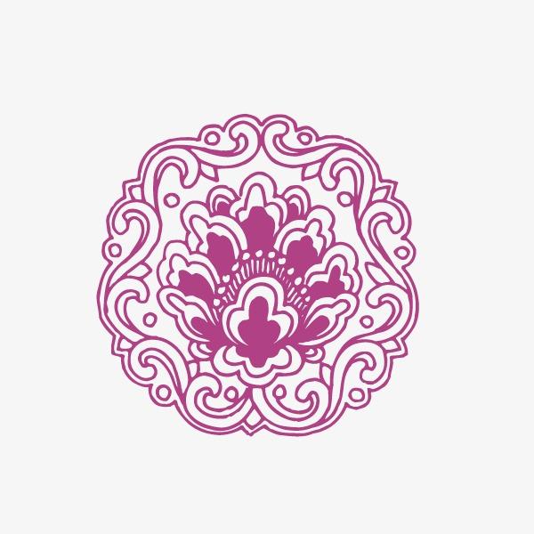 花纹底纹 淡紫色 中国风(图片编号:15402342)