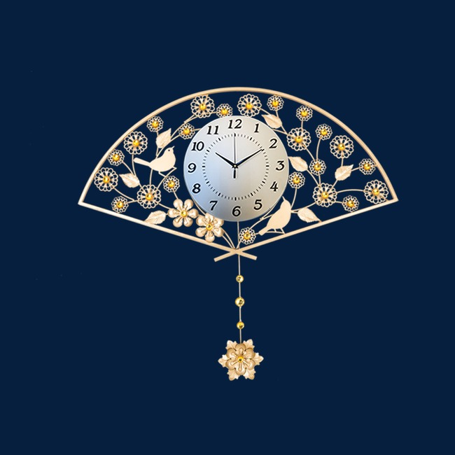 可爱扇形闹钟图案png素材-90设计