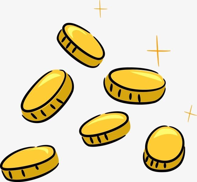 卡通手绘金币