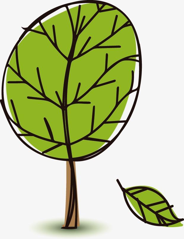 春天手绘树木