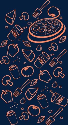 卡通手绘食物底纹(图片编号:15400708)