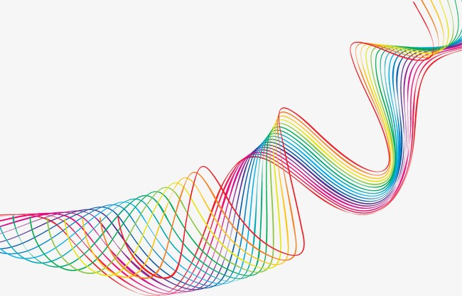 抽象炫彩几何曲线线条