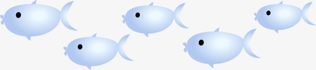卡通可爱小鱼鱼群