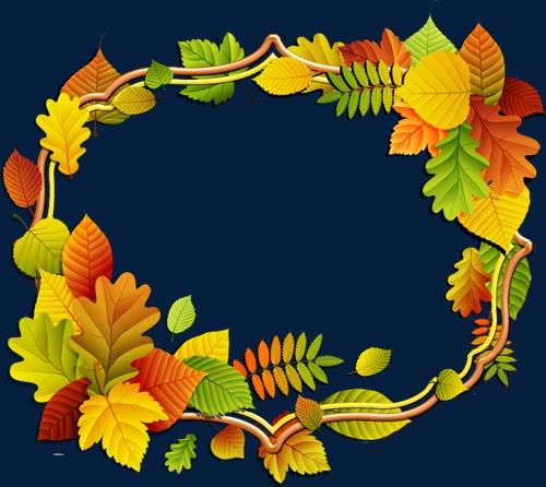 秋天色彩边框