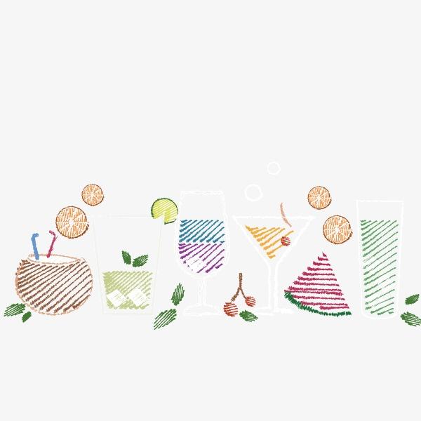 可爱卡通手绘 糖果色 夏天