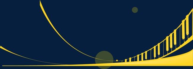 抽象几何建筑线条桥