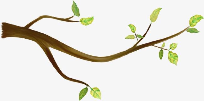 手绘卡通_手绘树枝png素材-90设计