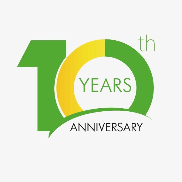 10周年 艺术体 数字 绿色图片背景素材免费下载,图片编号542862 千...