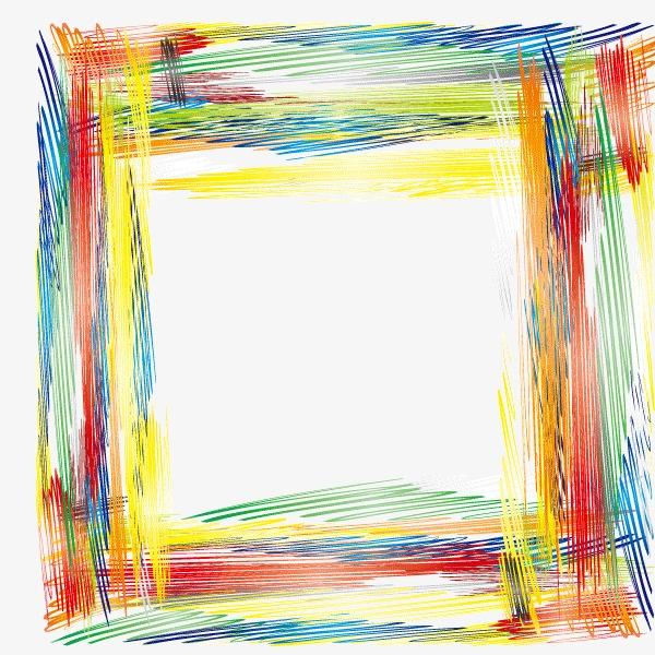 边框 简笔画 彩铅
