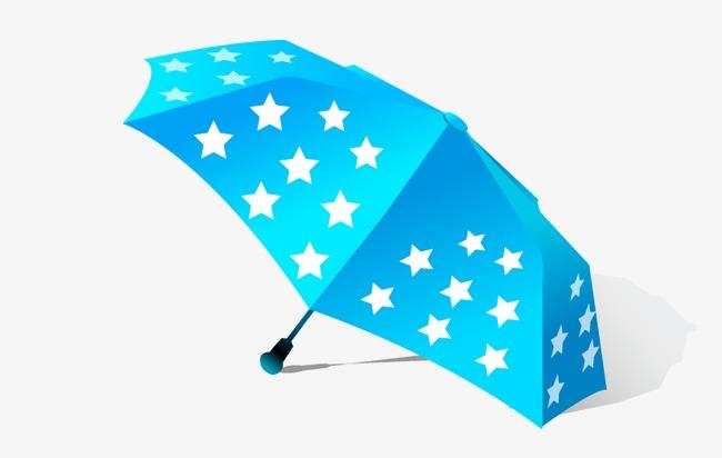 手绘五角星雨伞