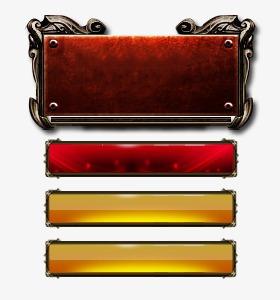 金色边框元素