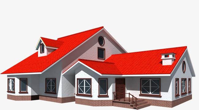 图片 > 【png】 红色屋顶别墅  分类:装饰元素 类目:其他 格式:png