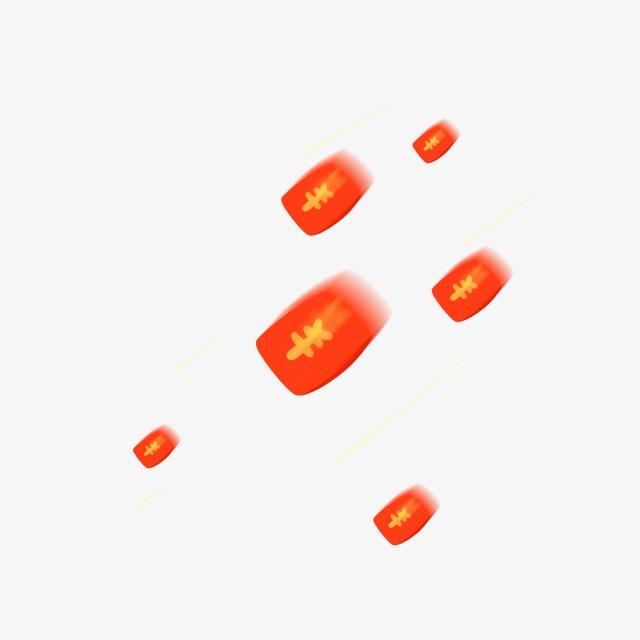 红包雨【高清装饰元素png素材】-90设计